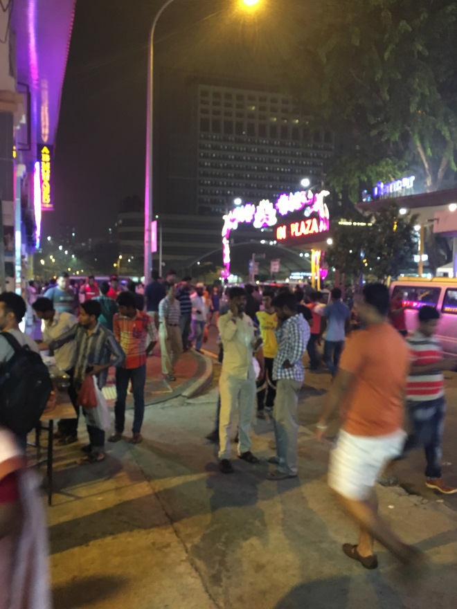 Little India was alive with thousands of people