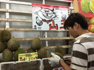 Durian Fruit Stall on Geylang Road