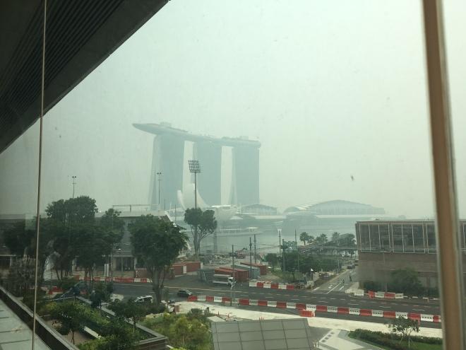 Marina Bay Sands Through the Haze